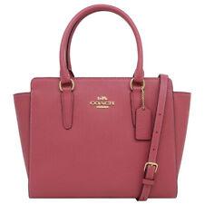 NWT COACH LEAH Satchel Crossbody Purse Bag Leather Strawberry Pink Gold F30555