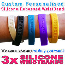Custom Personalized Silicone Wristband with a mood name
