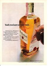 1969 BALENTINES SCOTCH WHISKEY ~ ORIGINAL PRINT AD