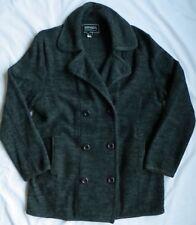 Bernardo Essentials Womens Blanket Sweater Coat Jacket Black Heather Wool Large