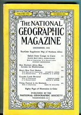 National Geographic Magazine December 1954 Africa Safari No Map VG 071316jhe