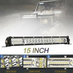 15 Inch 120W LED Light Bar Waterproof Off Road Driving Work Light Bar Combo Beam