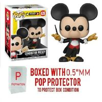 """Funko Pop Disney: Conductor Mickey #428 Figure w/0.5mm Case """"MINT"""""""