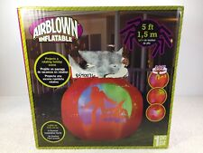 Airblown 5 ft Inflatable Lighted Projection Pumpkin Halloween Holiday Gemmy