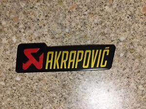 AKRAPOVIC GOLD SMALL Aluminium Heat Resistant Sticker badge Decal 3D Mx Exhaust