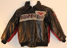 AVIREX Womens Jacket Size 10/12 Faux Leather Black Motorcycle 75