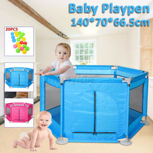 Baby Children Kid Playpen 6 Sides Protective  Indoor Safety Crawling