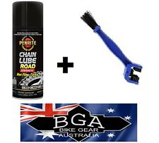 PENRITE CHAIN LUBE 400ml Can,+ Chain Cleaning Brush