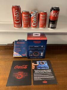 Stranger Things Lot: (Brand New) Polaroid One Step Camera, Film, Coke, Shirt