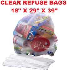 More details for large strong clear plastic polythene bin liners waste bags sacks18