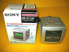 Sony Dream Machine FM/AM/Weather 4 band Clock Radio ICF-C113V