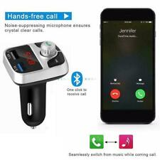 Bluetooth 4.2 Handsfree Car Kit FM Transmitter MP3 USB Player Charger Dual