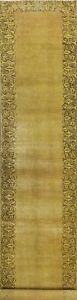 Semi Antique Overdyed Tebriz Distressed Hand-knotted Long Runner Rug 3x15 Carpet