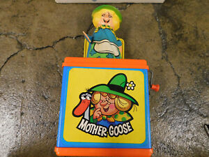 Vtg Pop Up Toy 1971 Mattel Mother Goose Jack in Box Musical Toy Nursery Rhyme