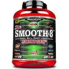 AMIX Smooth 8 Hybrid Protein MuscluCore 2,3 Kg FRESA YOGUR REGALO 2 BARRITA AMIX