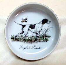"Vintage English Pointer Dog Dresser Trinket Dish Bowl 4.5"" Diameter"