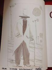 THOMAS - GAULTIER / GRISE MINE / EO / dedicace et dessin aquarellé pleine page