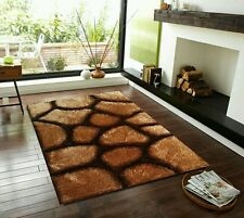 MODERN SMALL LARGE  BROWN WARM  RUGS ALL FLOORS  STONE 3D DESIGN  LUXURIOUS RUG