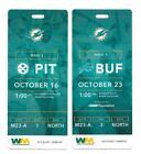 Miami+Dolphins-+Plastic+Tickets-+Weeks+6+%26+7+us+Pittsburgh+%26+Buffalo-+Year+%3F%3F%3F