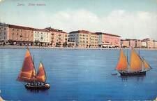 Croatia Zara. Riva nuovo, boats, bateaux, brodovi