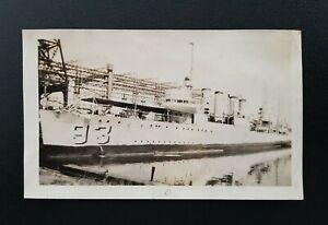 USS Fairfax (DD-93) United States Navy Wickes-Class Destroyer Ship Vintage Photo
