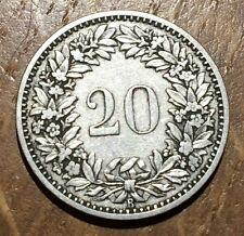 PIECE DE 20 RAPPEN SUISSE  1885 B (36)
