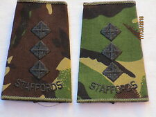 Rangschlaufen:  Captain, Staffordshire Regiment , DPM, STAFFORDS