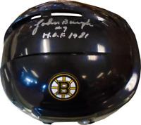 Johnny Bucyk HOF 1981 Autographed Boston Bruins Mini Helmet