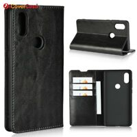 Luxury Genuine Leather Flip Wallet Stand Case Cover For Xiaomi Mi Mix 2s