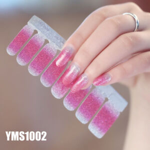 Wraps DIY Decals Nail Stickers Glitter Powder Gradient Color Full Cover