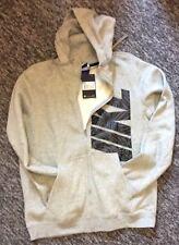 Nike Fleece Hooded Top Full Zip Hoodie Heritage Mens hoodie Grey Uk Size Medium