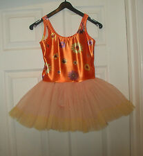 LITTLE BALLARINA tutu LOOK -NEW PEACH & ORANGE  ballet dress  8-9 YRS 4 SIZES