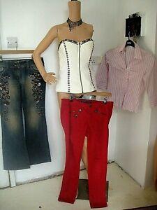Bundle Size 10 Stradivarius Red Jeans, Bebe Corset Next Sequin Jeans Pink Blouse