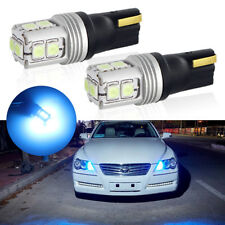 2x Ice Blue 168 2825 W5W T10 LED Bulbs For Car Parking City Lights Position Lamp