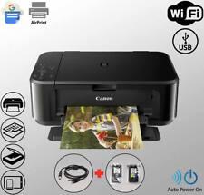 Wireless WiFi Printer All-in-One Duplex Copier Scanner + USB + Ink (Bundle)