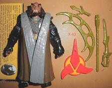 STAR TREK ritual KLINGON robe GOWRON figure TOY alien TNG batleth blade stand