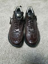 """Men Mauri """"Ostrich"""" coco brown casual shoes"""