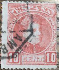 SELLO ALFONSO XIII 1901 10c. ROJO  USADO EDIFIL 243