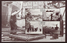 GREAT BRITAIN 2013 MERCHANT NAVY ATLANTIC, ARCTIC CONVOYS BOOKLET PANE FINE USED