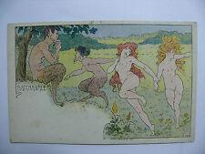 Carte postale, CPA, Lessieux, Authentique, Bacchanale.