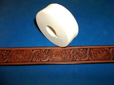 """Rodeo Leather Emboss Roll High Impact Poly 1 1/8"""" Wide"""