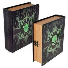Deathrite Grimoire Deck Box Spellbook Wooden Fabric Lined Magic TCG MTG YuGiOh
