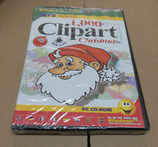 1000 Clipart Christmas  With Greetings card maker 3 PC CD-Rom New/Sealed  (CA4)