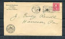 Lettera Società con illustrazione Panama-California-esposizione San Diego-b4237