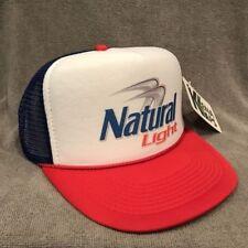 Natural Light Beer Trucker Hat Vintage Snapback Party Cap Red White Blue 2251
