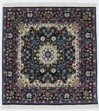 Black New Square Hand-Knotted Kirman 3X3 Oriental Home Décor Area Rug Carpet