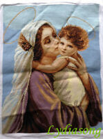 """New Completed finished cross stitch""""MARY AND ANGEL""""home decro gift sale"""