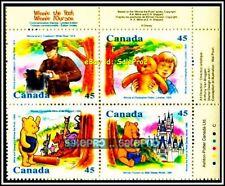 CANADA 1996 WINNIE THE POOH MINT FACE $1.80 COMPLETE SET MNH STAMP CORNER BLOCK