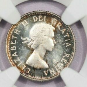 1953 Canada 10c NGC PL64 Shoulder fold Beautiful flashy coin with color!