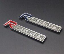Volvo R DESIGN Red Silver Grill Badge Front Emblem XC60 V70 S60 V40 V60 C30 V50
